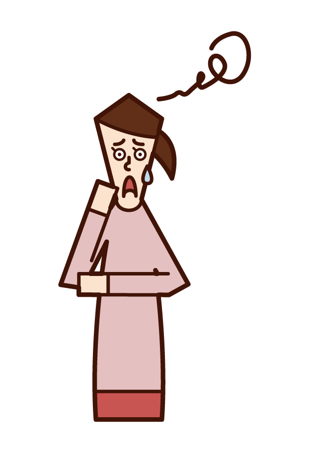 Illustration of a puzzled person (woman)