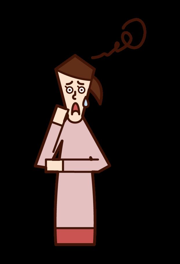 혼란스러운 사람 (여성)의 그림