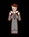 흥분한 사람 (남성)의 그림
