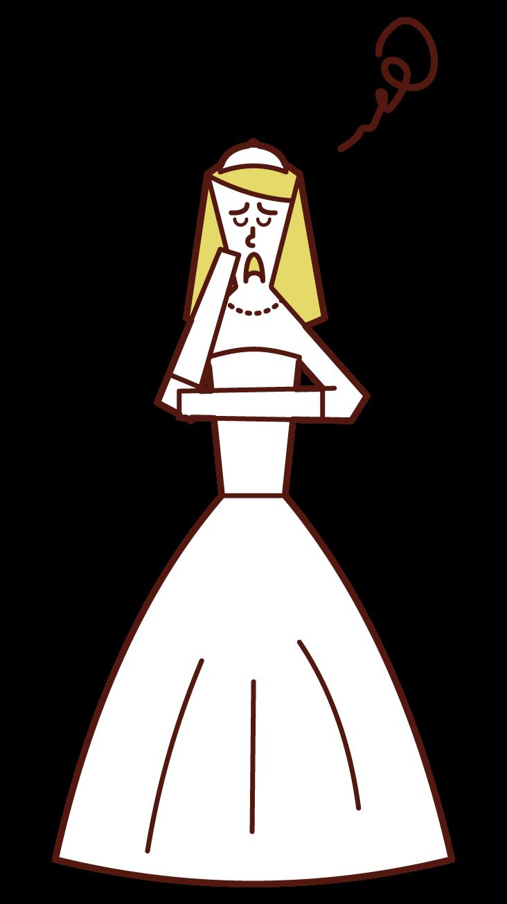 マリッジブルー(女性)のイラスト