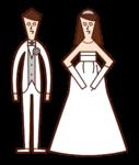 授かり婚のイラスト