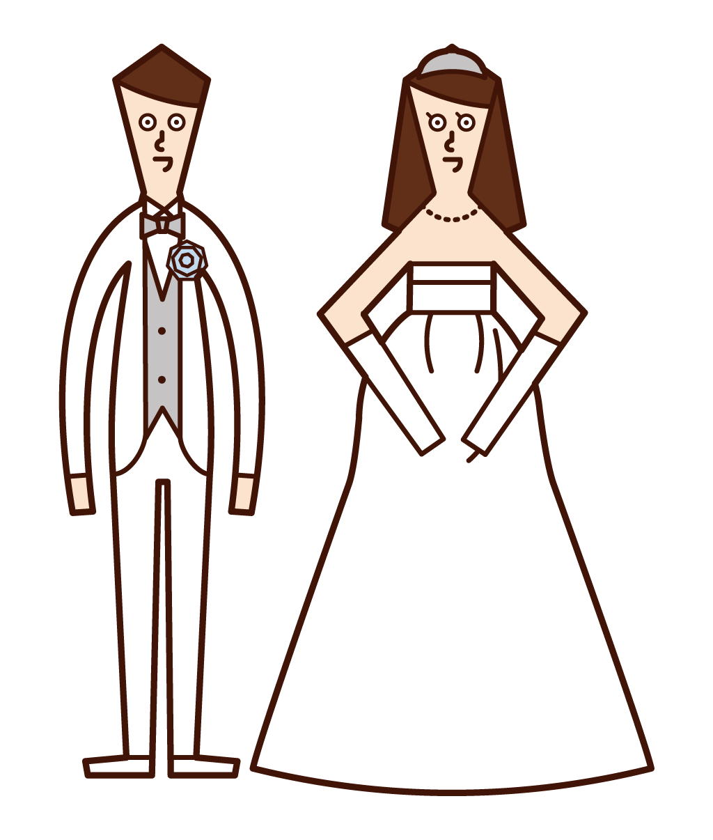 Illustration of a married couple