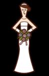 Illustration of the bride