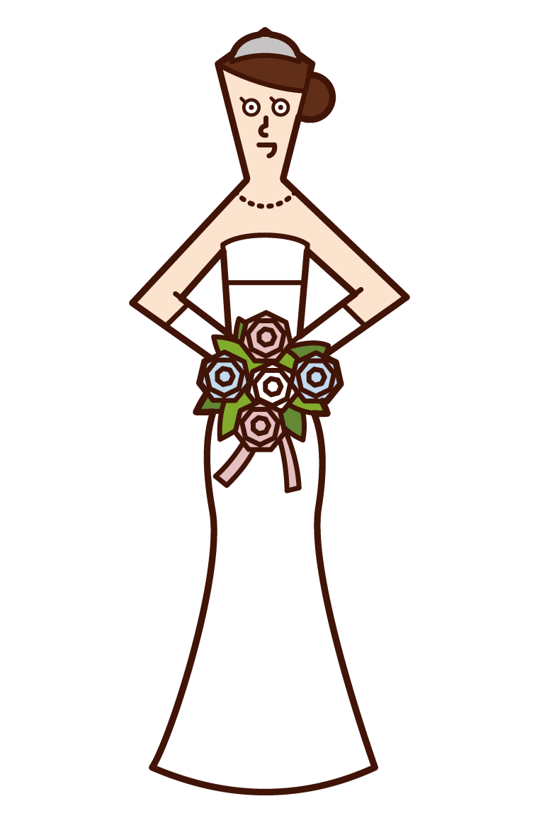 Illustration of the bride