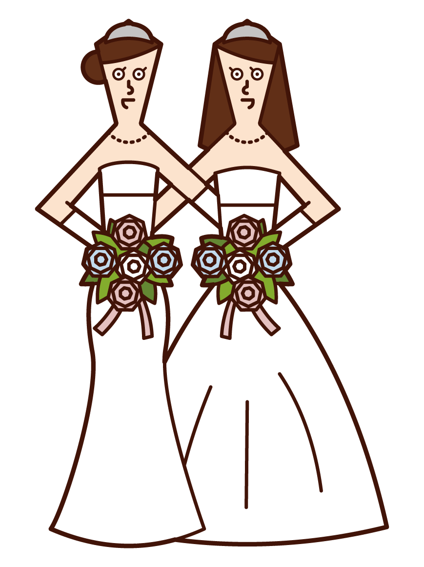 동성 결혼과 성소수자 (여성) 일러스트