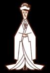 和装の新婦(白無垢)のイラスト
