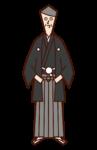 日本服裝的男性插圖