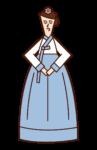 Illustration of a woman in Hanbog (Chimachogori)