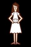 リングガール(女子)のイラスト