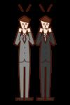結婚を祝福する友人達(男性)のイラスト