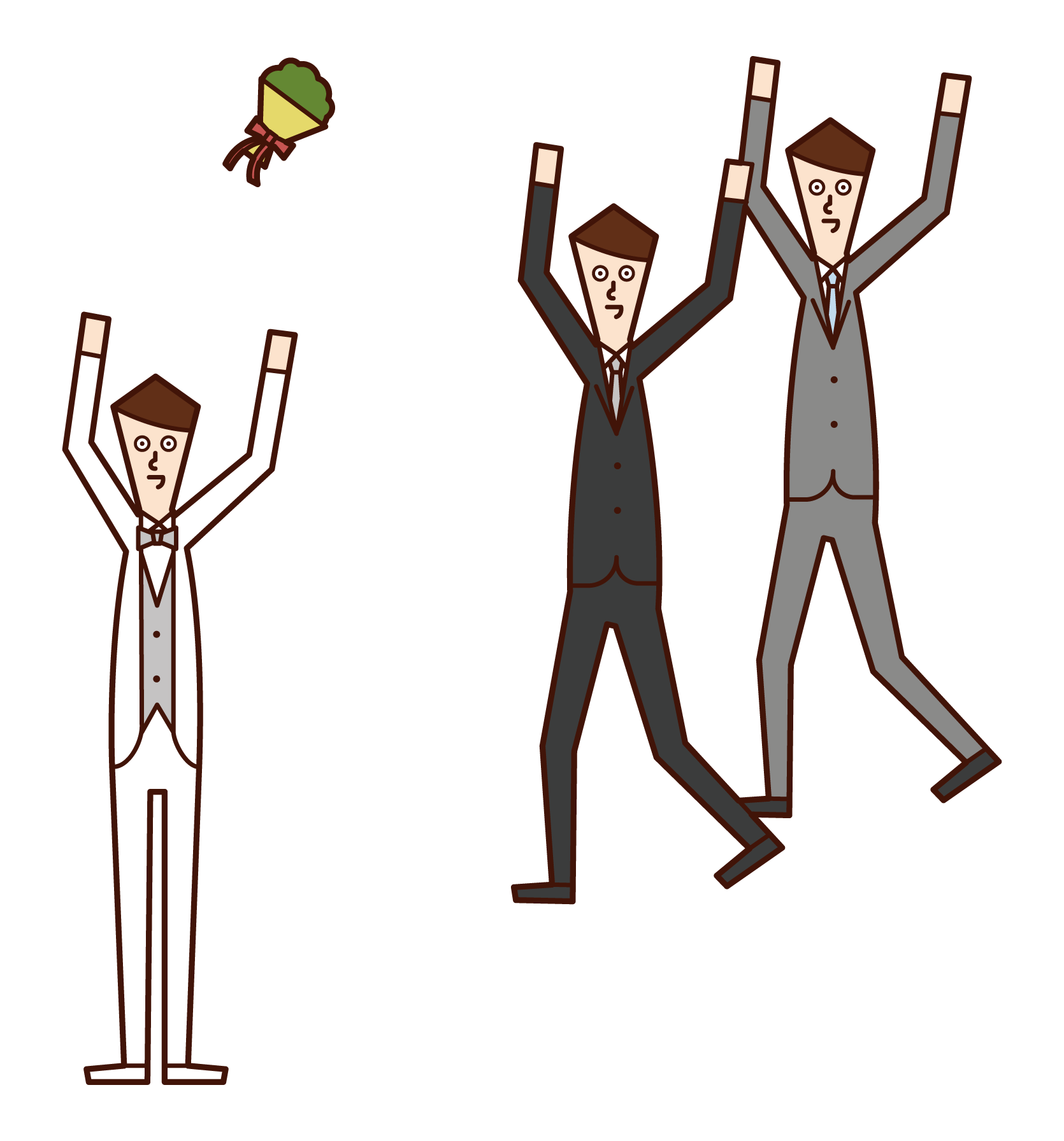 Illustration of a person (boy) who is a broccoli toss