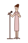 Illustration of a woman giving a speech