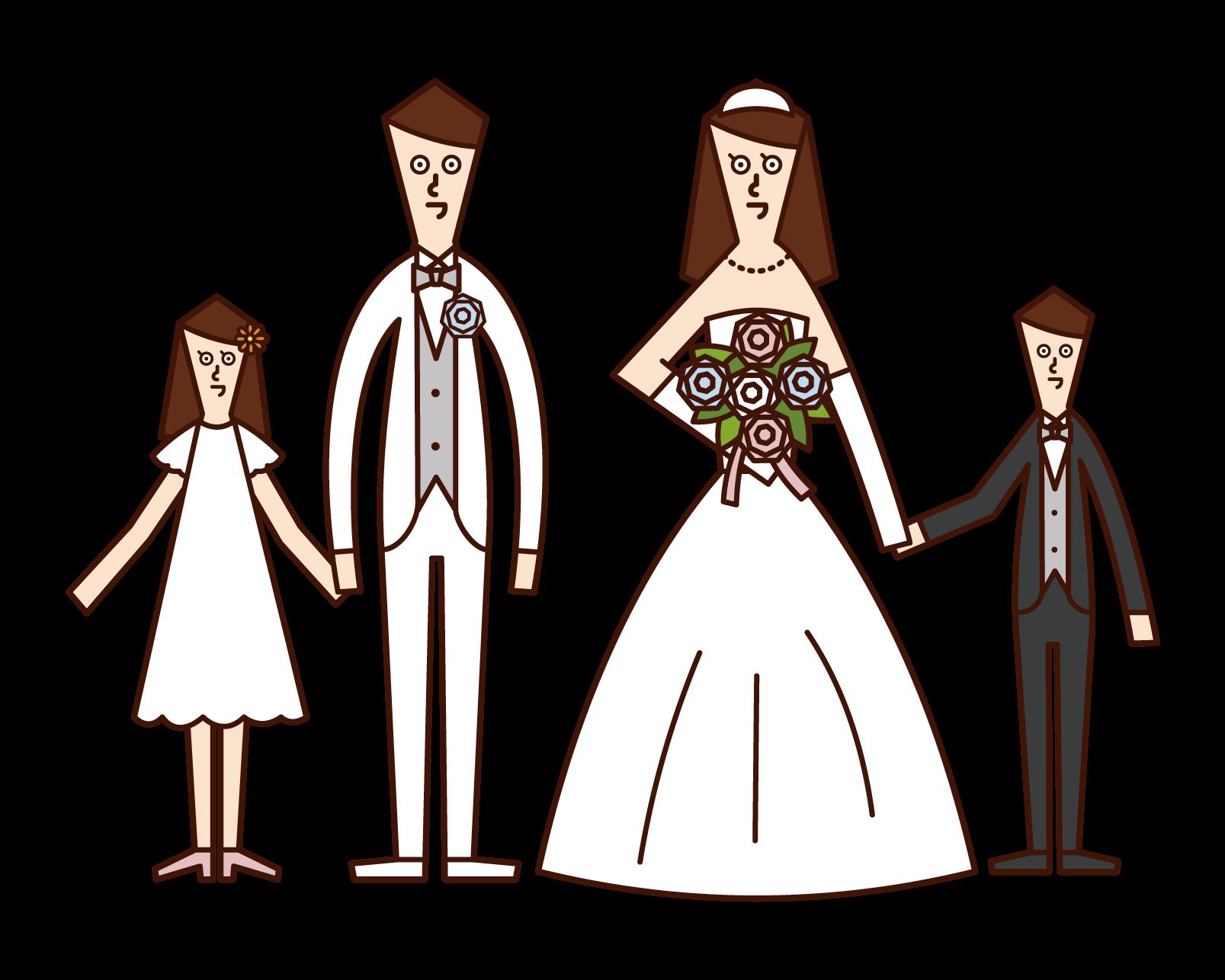 가족 결혼식 일러스트