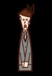 謝罪する人(男性)のイラスト