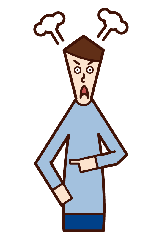 Illustration of an angry man