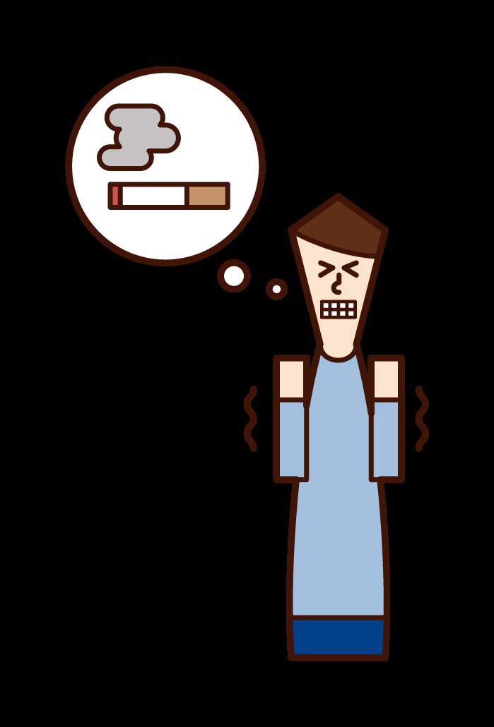 非吸煙者(男性)的插圖