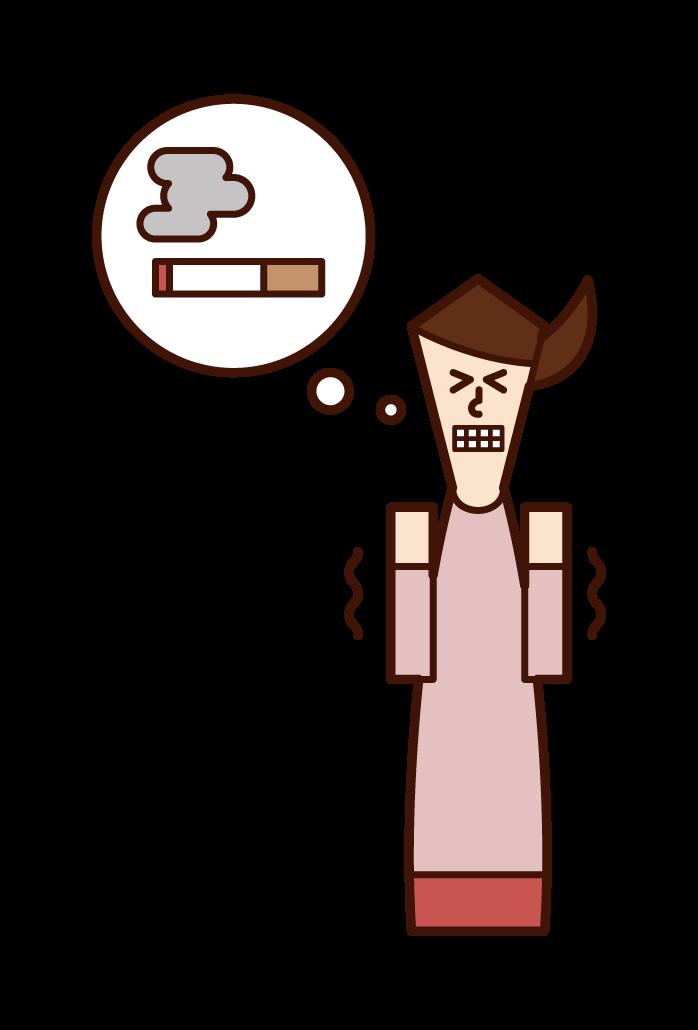 非吸煙者(女性)的插圖