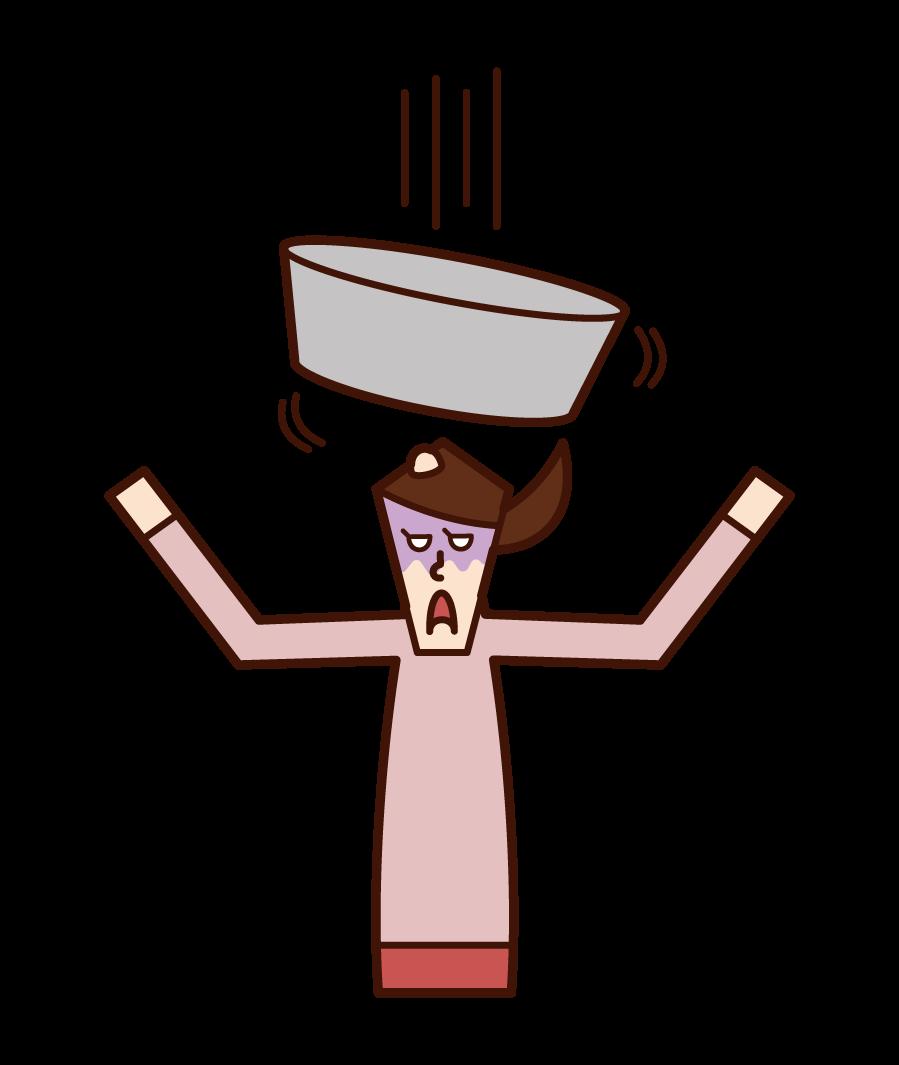 浴缸(女性)插圖