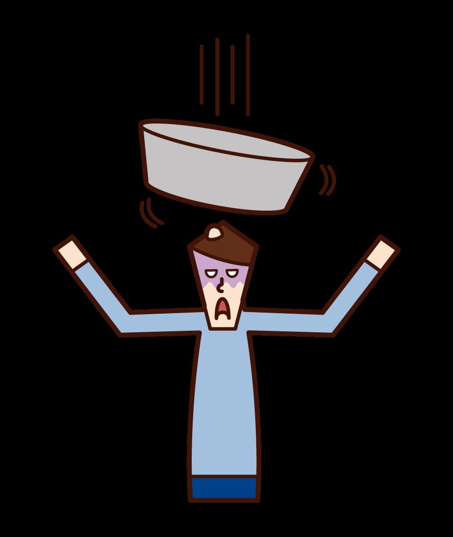 浴缸(男性)插圖
