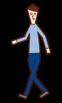 걷는 사람(남성)의 일러스트