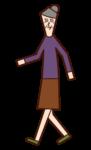 步行者(祖母)的插圖