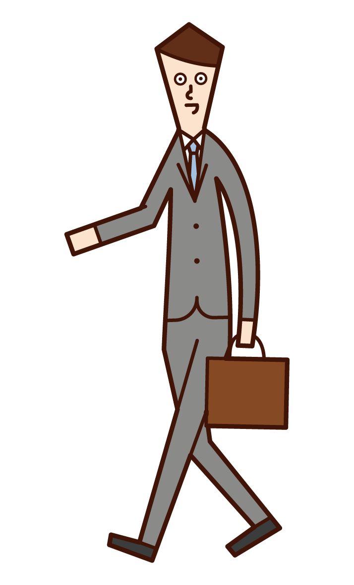 Illustration of a walking person (man)