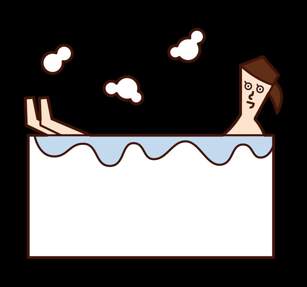 목욕하는 사람 (여성)의 그림