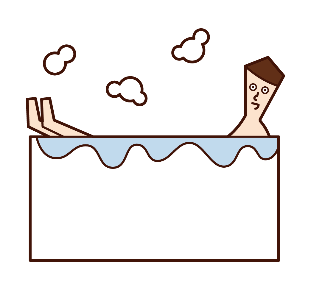 목욕하는 사람 (남성)의 그림