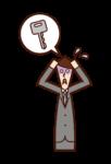 失鑰匙和不耐煩的人(男性)的插圖