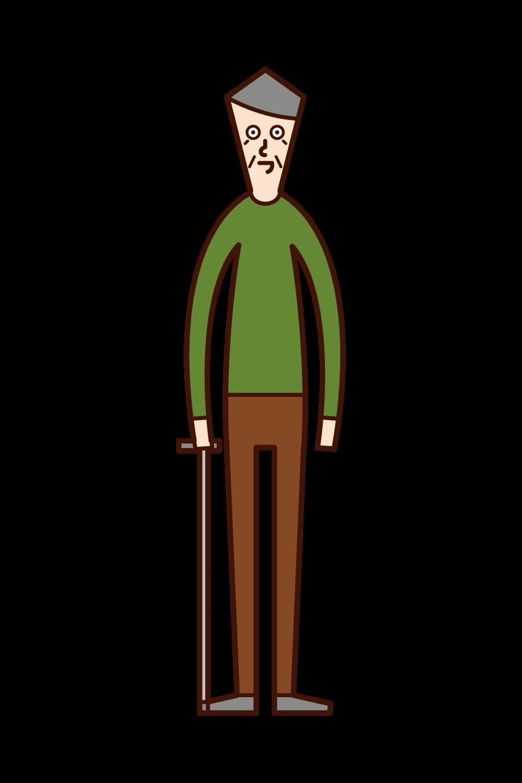 노인 일러스트