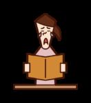 책을 읽을 때 인상적인 사람들 (여성)의 그림