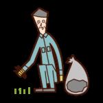 제초자 (할아버지)의 그림