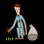 제초자 (남성)의 그림