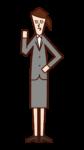 관리자 및 관리자 (여성) 그림