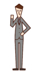 관리자 및 관리자 (남성) 그림
