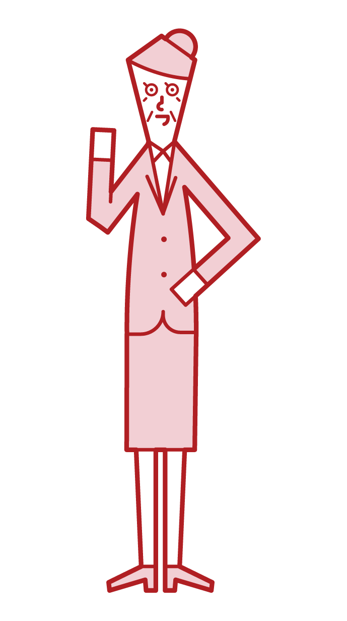 Illustration of manager and boss (woman)