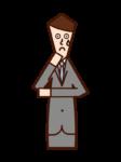 懺悔者(男性)的插圖