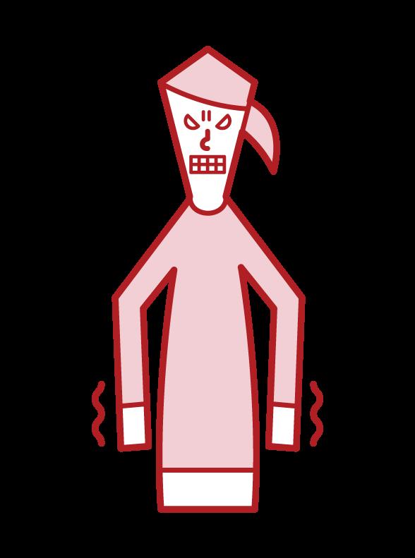 우울하거나 역겨운 사람 (여성)의 그림
