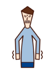 Illustrations of people who are irritated or disgusted (men)