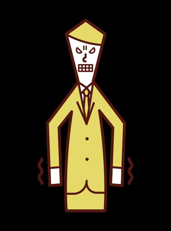 우울하거나 역겨운 사람 (남성)의 그림