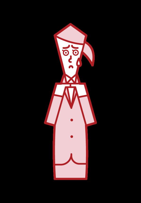 被動的人和莫吉莫吉的人(女人)的插圖