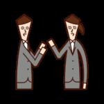 Illustrations of people having conversations