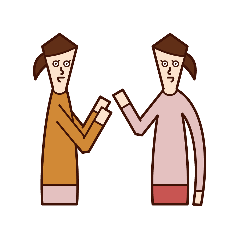 對話者(女性)的插圖