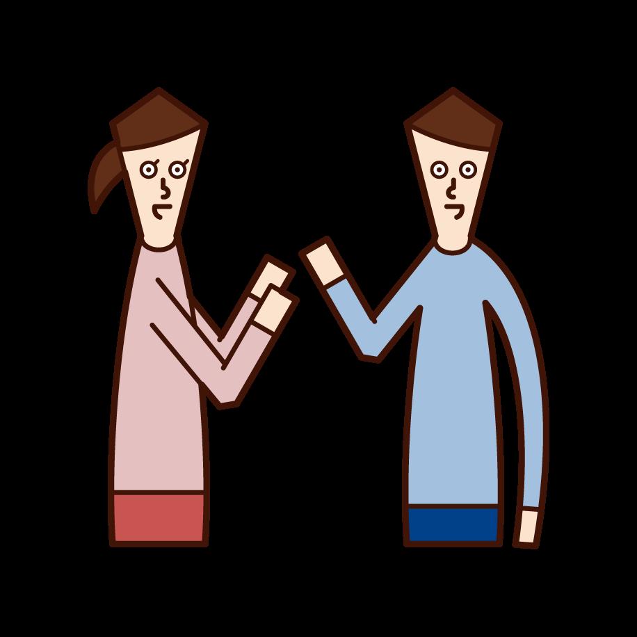 對話者插圖