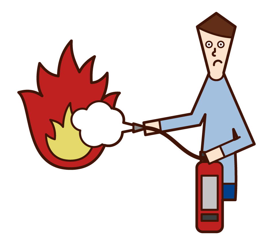 Illustration of people fleeing the fire