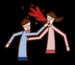Illustration of a violent person (male)