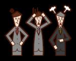 中層管理人員、科長和經理(男性)插圖