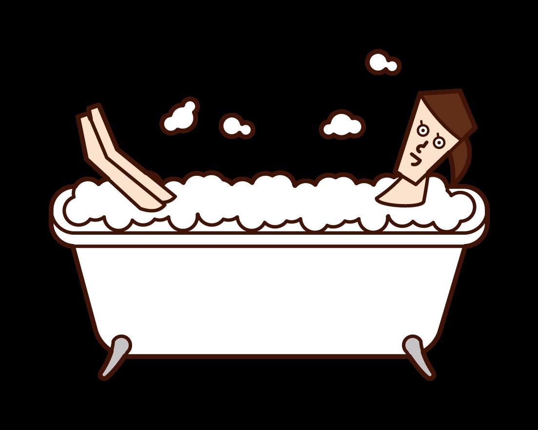 거품 목욕 (여성)의 그림