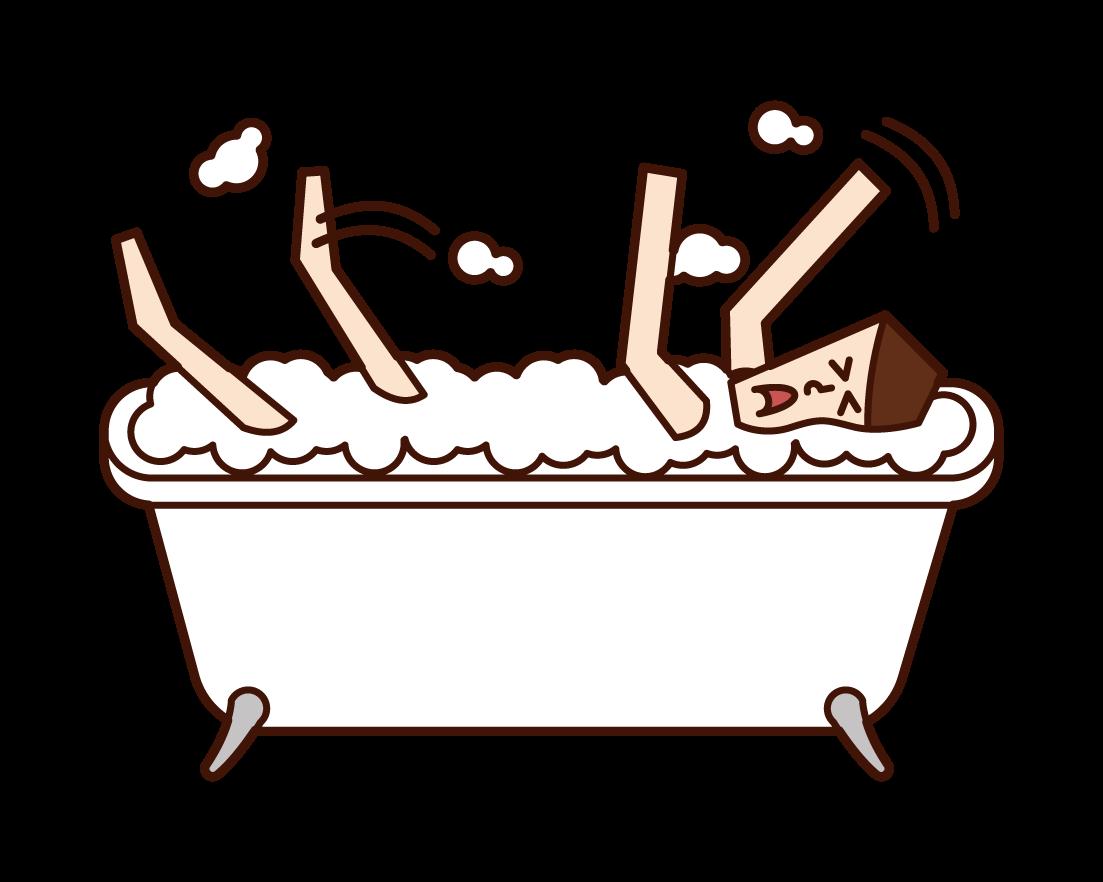 욕조에서 익사 한 사람 (남성)의 그림