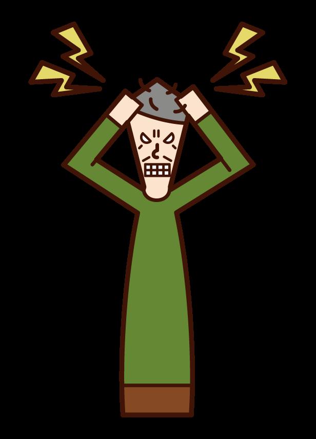 히스테리 사람 (할아버지)의 그림